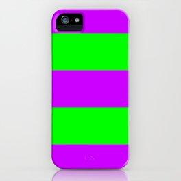 Neon Purple & Green Wide Horizontal Stripes #2 iPhone Case