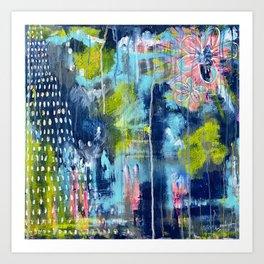 Channeled Blue Art Print