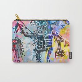 A digitally and roughly vectorised Jean Michel Basquiat Carry-All Pouch
