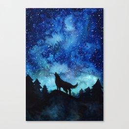 Wolf Galaxy Canvas Print