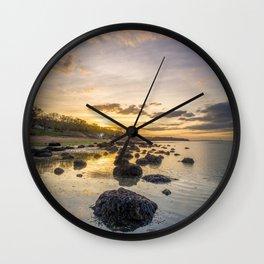 Sunset The Rockery Isle of Wight Wall Clock