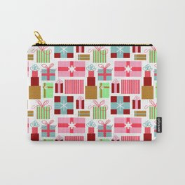 Merry Christmas from Florida | Presents Gift Boxes Bows Tropical Pink Green | Renee Davis Carry-All Pouch