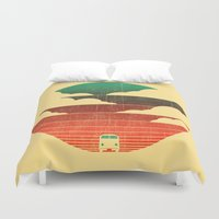 michael scott Duvet Covers featuring Go West by Picomodi