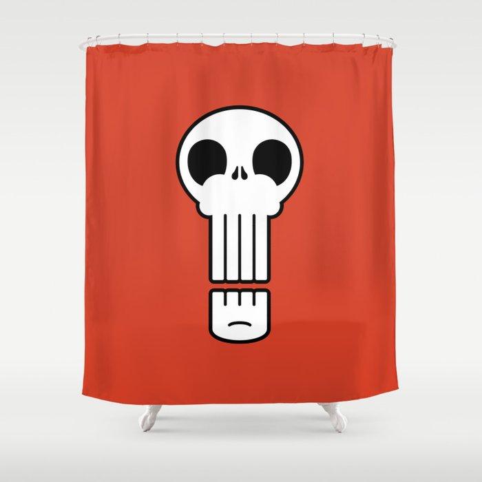 Long Skull Shower Curtain