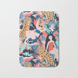 Tropical Girls with Cheetah Bath Mat