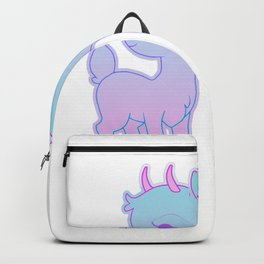 I have Anxiety print Cool Kawaii Pastel Goth Style Design Backpack