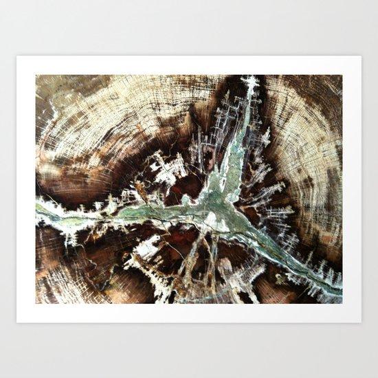 Green Vein Art Print