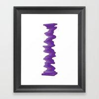 Single Rippled Column Framed Art Print
