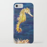sea horse iPhone & iPod Cases featuring Sea horse by Michelle Behar