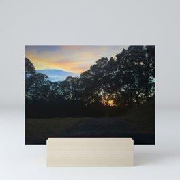 Hiking at Sunset - Alamo, CA Mini Art Print