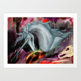 Otherworld Unicorns 10: The Unicorn of Peace Art Print