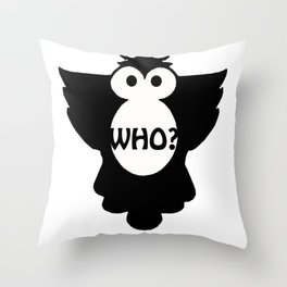 WHO? Throw Pillow
