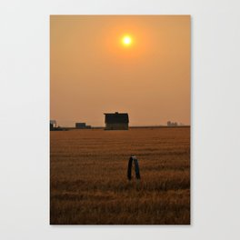 Red sunset. Canvas Print