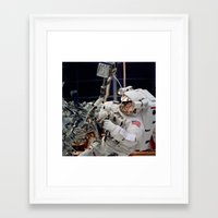 nasa Framed Art Prints featuring NASA - Astronaut by Planet Prints
