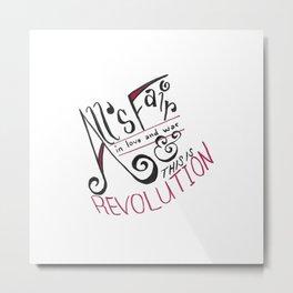 Top Hat Revolution Metal Print