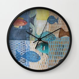 Black and Parrot Wall Clock