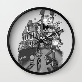 Mysterious Machines dots Wall Clock
