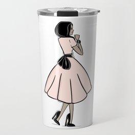 Bouclée Fashion Illustration Travel Mug