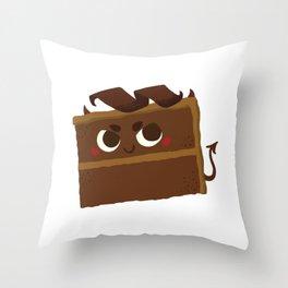 Baby Cakes - Devil's Food Cake Throw Pillow