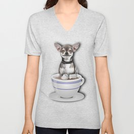 Tea Cup of Love Unisex V-Neck