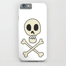 Skull & Crossbones on orange iPhone Case