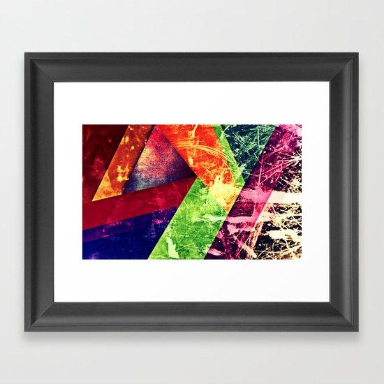 Through colour Framed Art Print