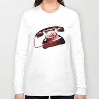 telephone Long Sleeve T-shirts featuring TELEPHONE by Ylenia Pizzetti