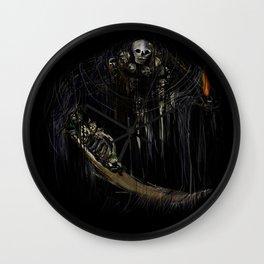 Gravelord Nito - Dark Souls (black tee PNG edition) Wall Clock