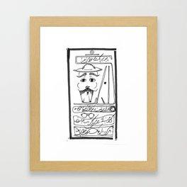 Mr. Moustache Framed Art Print