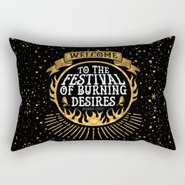 Daughter of the Burning City - Amanda Foody - Black Rectangular Pillow