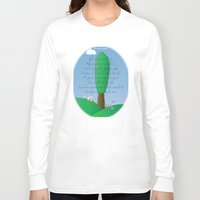 poem Long Sleeve T-shirts featuring Poplar Tree Poem by World Raven