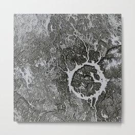 Lac Manicouagan in winter Metal Print