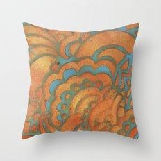 Drawing Meditation Stencil 1 - Print 8 Throw Pillow