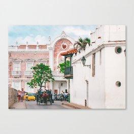 Street Scene, Cartagena Fine Art Print  • Travel Photography • Wall Art Canvas Print