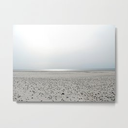 North Sea Beach, low tide Metal Print