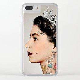 Rebel Queen Clear iPhone Case