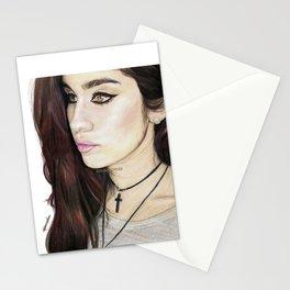 Lauren Jauregui Coloured Pencil Drawing #2 Stationery Cards