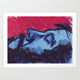 Saturated Colour Man Art Print