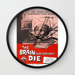 The Brain That Wouldn't Die Movie Poster Wall Clock