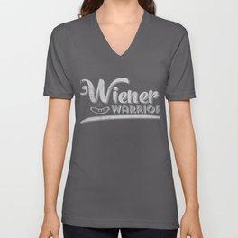 Oktoberfest graphics Funny | Wiener Warrior | Sausage print Unisex V-Neck