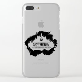 Slytherin B&W Clear iPhone Case