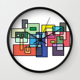 Color Connection Design Wall Clock