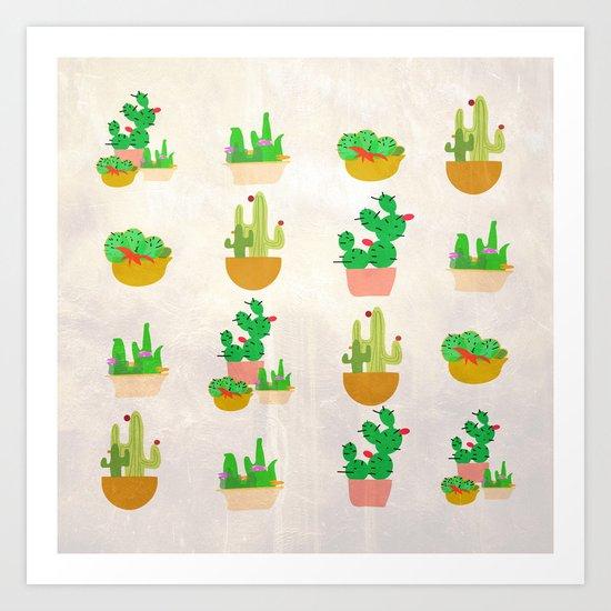 Cacti Festival Art Print
