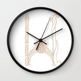 Fancy W Wall Clock