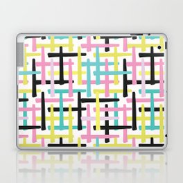 Criss Cross Weave Hand Drawn Vector Pattern Background Laptop & iPad Skin