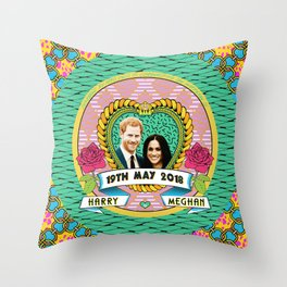 HARRY & MEGHAN Throw Pillow