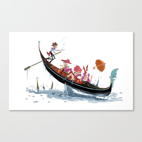 Pin up Venise Canvas Print