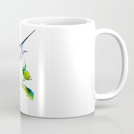 White Marlin Chasing Dolphin Fish Coffee Mug