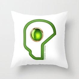 Futuristic Cyborg Logo 3 Throw Pillow