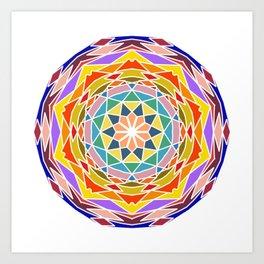 Soothing floral mandala Art Print